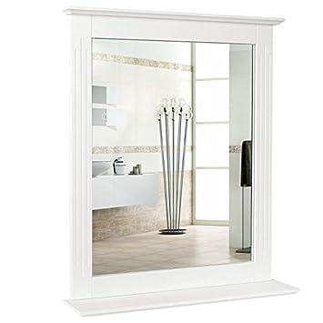 Homfa 50x60cm Wandspiegel Badspiegel Mit Ablage Hangespigel Spiegel