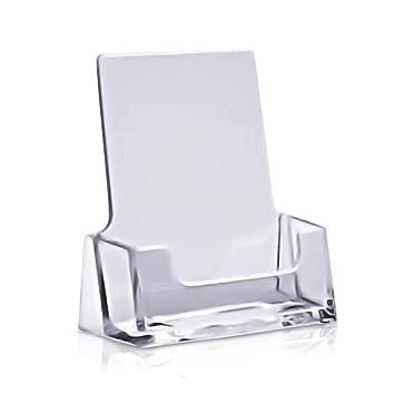 Visitenkartenhalter Hoch Von Mydisplays Transparente Optik Ideale Lösung Als Ständer Und Box Für Visitenkarten 5er Set