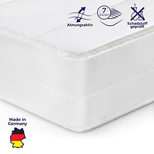 Mister Sandman orthopädische 7-Zonen-Matratze für besseren Schlaf- Kaltschaummatratze H2/H3 mit ergonomischen Liegezonen, Höhe 15cm, 160x200 cm H2