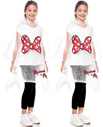 Disney Mickey & Minnie Parts Rain Poncho (Youth, 2-pack Minnie)