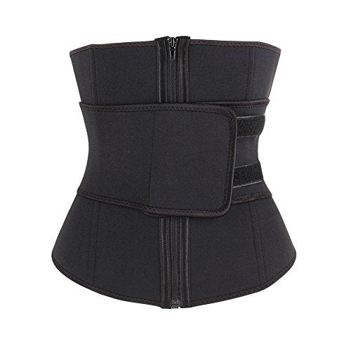 DANALA Women's Hot Sweat Underbust Neoprene Waist Trainer Weight Slimming Loss Waist Cincher Black M