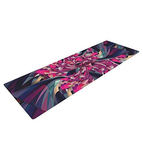KESS InHouse Danny Ivan Purple Spiral Exercise Yoga Mat, Pink Geometric, 72″ by 24″