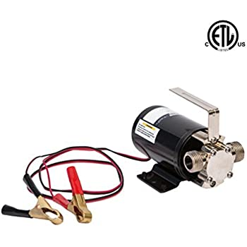 Fpower Portable Transfer Water Pump Battery Powered Self Priming Pump 12v 330 Gph 3 4 Garden