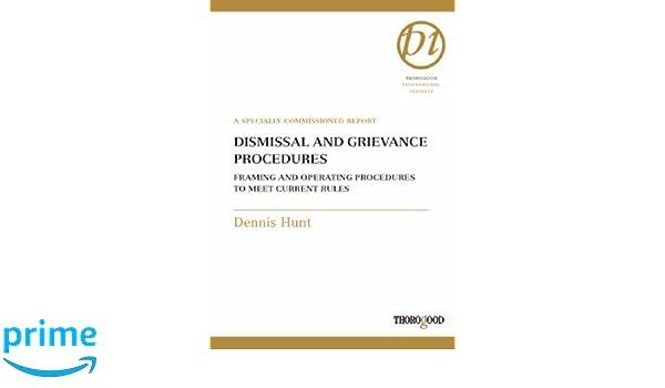 dismissal and grievance procedures hunt dennis