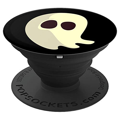 (Halloween Ghost PopSockets Grip Cute Ghosty Women Black Gift - PopSockets Grip and Stand for Phones and)