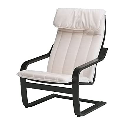 IKEA POANG - Sillón, negro-marrón, Alme natural: Amazon.es ...