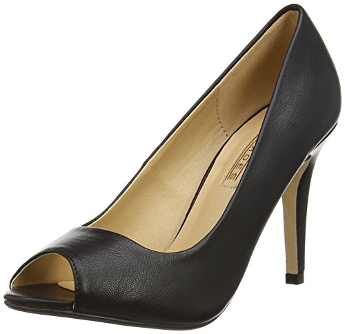 Buffalo Shoes 314669 LXY SSQX, Damen Peep-Toe Pumps, Schwarz (BLACK 01), 37 EU