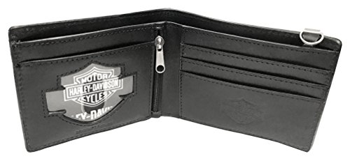 Men's Leather Wallet HDMWA11264 Deputy Harley Bi Studded Fold BLK Davidson SB5ngqw7
