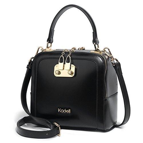 ba9c117c36b1 Kadell Fashion Women Shopping Top Handle Shoulder Bags Ladies Handbag  Clutches with Strap Black