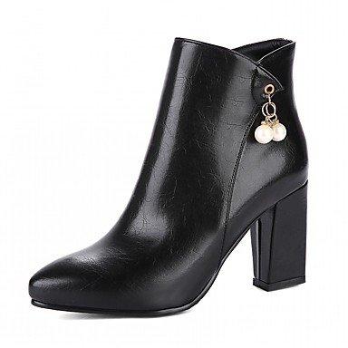Talón Chunky Novedad Mujer EU39 De Pu Botines Botas Otoño Botas De De RTRY Piel Botines US8 CN39 Sintética Imitación Confort Señaló Toe Invierno Zapatos Moda UK6 Perla Z0WYSn