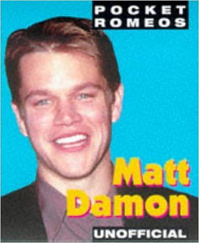 Englanti ebooks ilmainen lataus pdf Matt Damon (Pocket Romeos) 0752213164 PDF