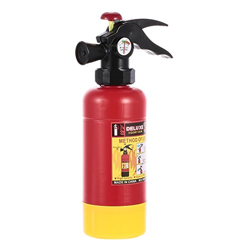 Goolsky Fire Extinguisher Portable Squirter Water Spraying Toy For Kids Halloween Firefighter Costume Gift -