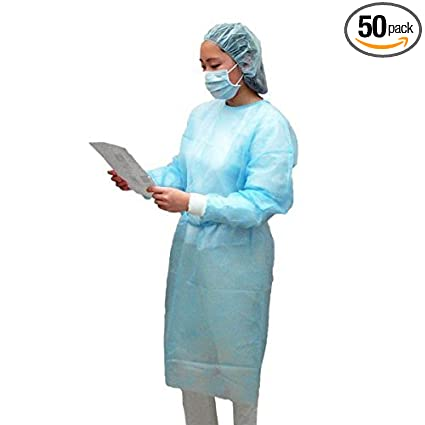 Dental Medical Latex Free Disposable Isolation Gowns Knit Cuff Non ...