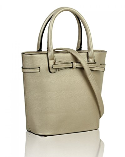 Bags 051 Tote Cute Women's Bow Bag Handbags For Shoulder Holiday Grab Gold Casual LeahWard n7wBqaI4x7