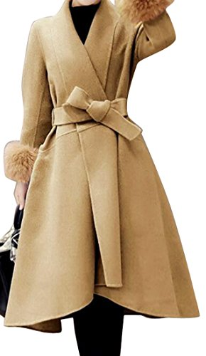 Faux Fur Belted Coat - 9