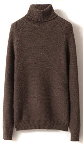 LONGMING Women's Winter Cashmere Turtleneck Sweater Long Sle