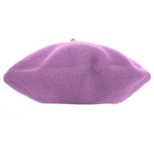 Hattfart Cute Kids Hat Dome Beret Artist Dome Beret Cap Headwear French Style Costume (Purple) ()