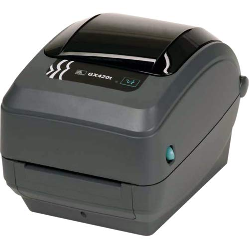 Zebra - GX420t Thermal Transfer Desktop Printer for Labels, Receipts, Barcodes, Tags, and Wrist Bands - Print Width of 4 in - USB, Serial, and Parallel Port Connectivity ()