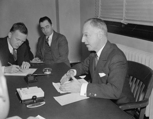 1937 Photo Straus Holds Off Housing Requests  Washington  D C   Nov  3  Natha C2