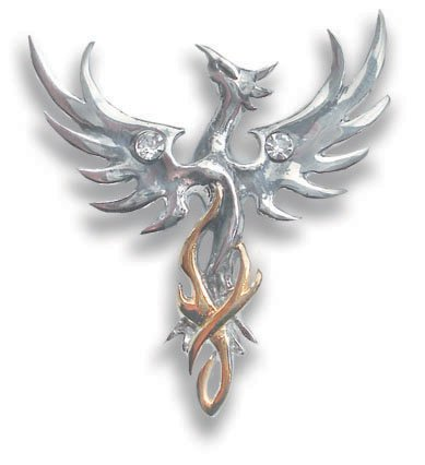 Crystal Phoenix Suns (Sun Phoenix Pendant for Optimism by Anne Stokes)