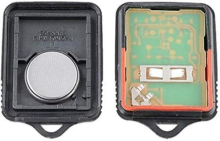 Znwiem 2pcs 3 Pulsante Portachiavi Entrata Keyless Telecomando per Ford Lincoln Mercurio Mazda F150//F250//F350 3.5cm*5.1cm*1.3cm Nero