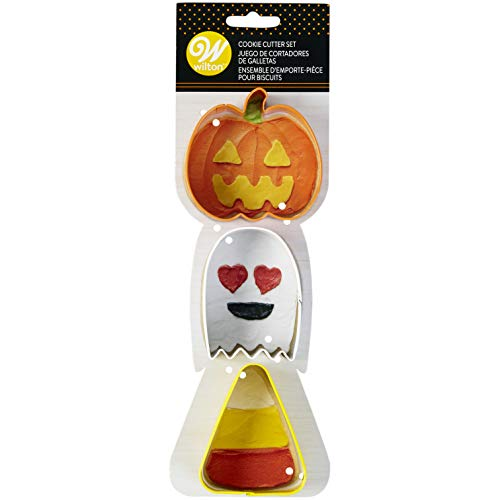Wilton Halloween 3 pc COokie Cutters - Pumpkin, Ghost & Candycorn]()