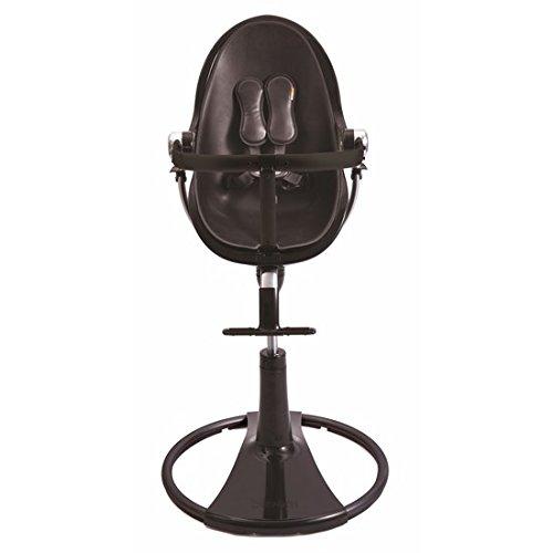 Bloom Black Fresco Chrome High Chair In Midnight Black