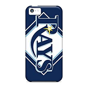 Shock Absorption Hard Cell-phone Cases For Iphone 5c (RlF15834BgTm) Support Personal Customs Lifelike Tampa Bay Rays Image