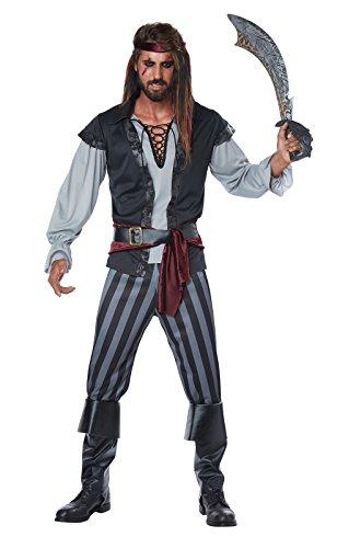 California Costumes Men's Scallywag Pirate Adult Man Costume, Black/Gray Large ()