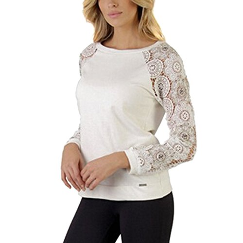 Couture Chemise Longues Sweat Manches Shirts Dentelle Tee shirts Chouette Tq50Y