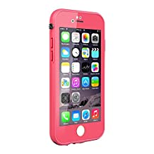 iPhone 6S Waterproof Case, Pandawell Ultra Slim Thin Light Dust Proof Snowproof Shockproof Case Full Body Protective Cover for Apple iPhone 6 / iPhone 6S 4.7 inch - Pink