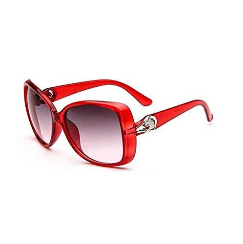 Tocoss (TM) célèbre Marque Designer Shades Miroir Lunettes de soleil femme Mode Miroir rétro ovale Eyewear Lunettes de soleil femelle Oculos de sol, violet