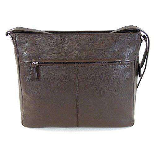 Pavini Damen Tasche Crossovertasche Verona Leder braun 12591 Reißverschluss