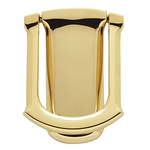 Baldwin 0105.003 Tahoe Door Knocker, Lifetime Polished - Door Knocker Brass