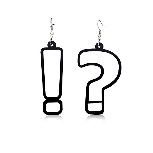 Costume Exclamation Mark (Tidoo Jewelry Lovely Acrylic Dangle Stud Earring Punk Style Nightclub Exaggeration Hip Hop)