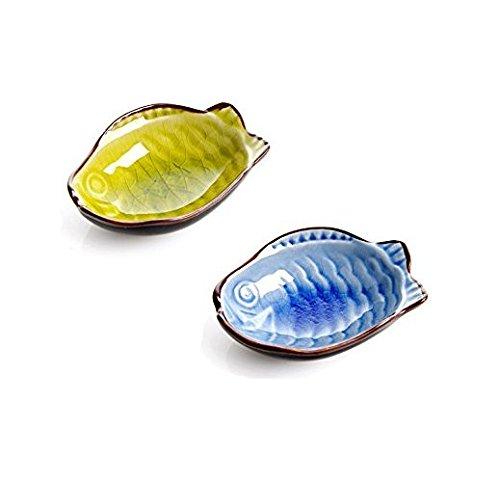 Astra shop 4pc fish shape porcelain serving saucers bowl for Fish bowl amazon