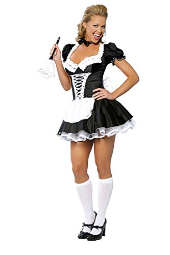 GGTBOUTIQUE Damen A-Linie Kleid schwarz schwarz / weiß