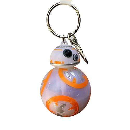 Star Wars Force Awakens BB-8 Keychain w/ Lights & Sound Disney - Keychain Bb8