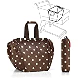 Reisenthel UJ6018 Easy Shopping Bag for supermarket trolleys - mocha dots by Reisenthel