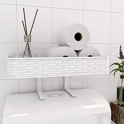Over The Toilet Organizer Bathroom Storage Shelf Bath Space Toilet Paper Holder