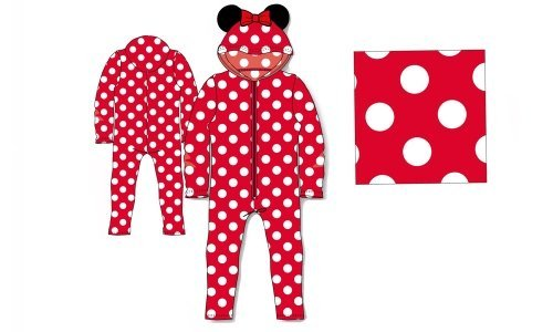 Disney Minnie Mouse Red Hooded Suit Fleece 100% Polyester 11 to 12 Years Onesie