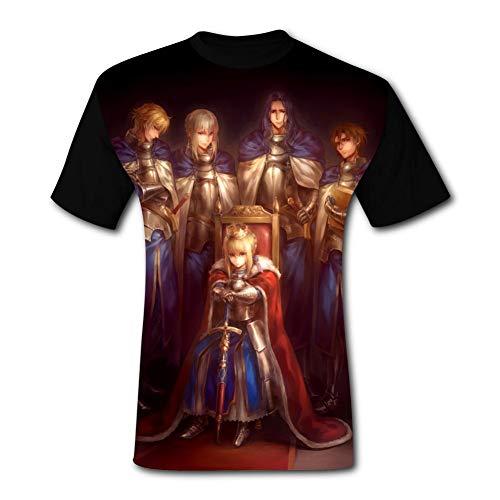 the Era of King Ar-thur Men's T shirt 3D Printed Summer Short Sleeve Casual T-shirt Shirt Tee Black
