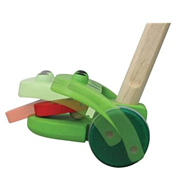 PlanToys Plan Preschool Push-Along Frog, Push and Pull: Toys & Games