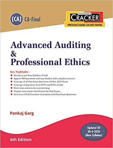 Advanced Auditing & Professional Ethics (CA-Final-New Syllabus)(6th Edition 2020)