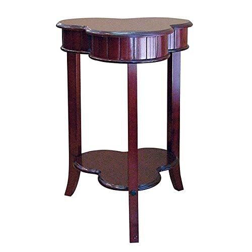 Frenchi Home Furnishing Passport Clover Accent Table in Cherry Finish