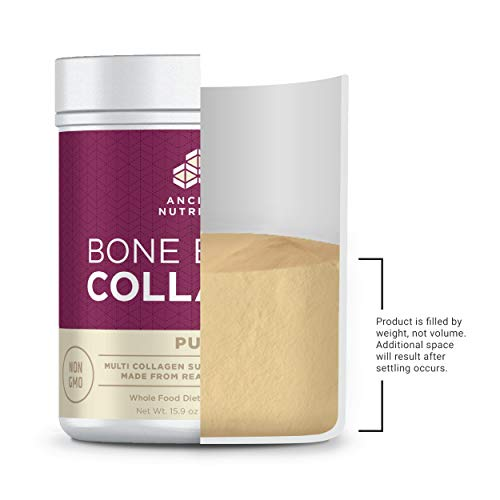 Ancient Nutrition- Bone Broth Collagen Loaded with Bone Broth Co-Factors – 10g of Type I, II and III Collagen Per Serving