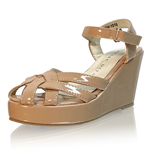 Marc Defang New York Girl's Strappy Toes Sandal Wedges (Y3 M US) by Marc Defang New York