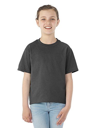 Jerzees Heavyweight Blend Youth Tee (Black Heather) (XS) (Youth Jerzees Heavyweight Blend)