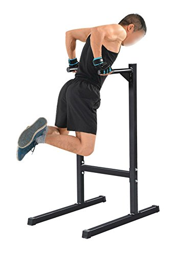 Dip Station Machine Self Standing Dip Bar Stand Bicep Tricep Exercise 500 lbs by Unknown