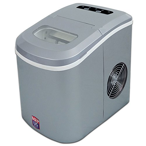 MRP US Portable Ice Maker Counter-top Ice Machine With 2 Selectable Cube Size (New)- IC605 (Silver)